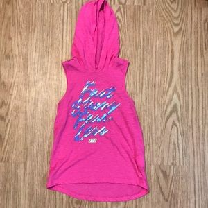 Fast Strong Fearless girls athletic tank.